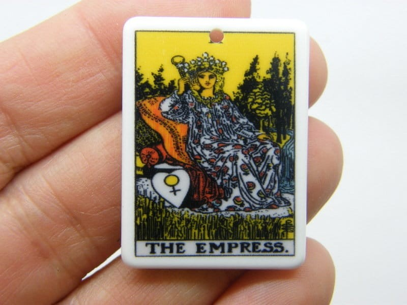 1 The empress tarot reading card pendant resin HC407