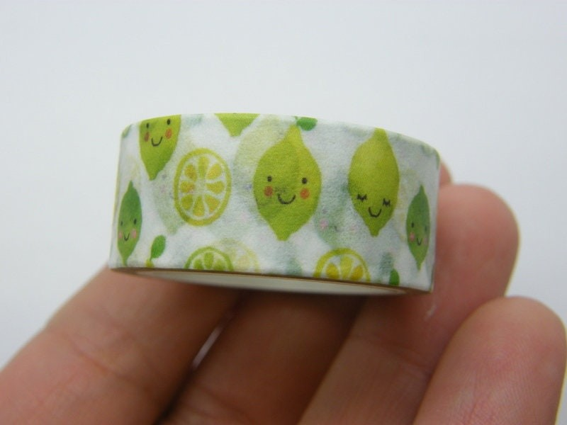 1 Lemon washi tape ST