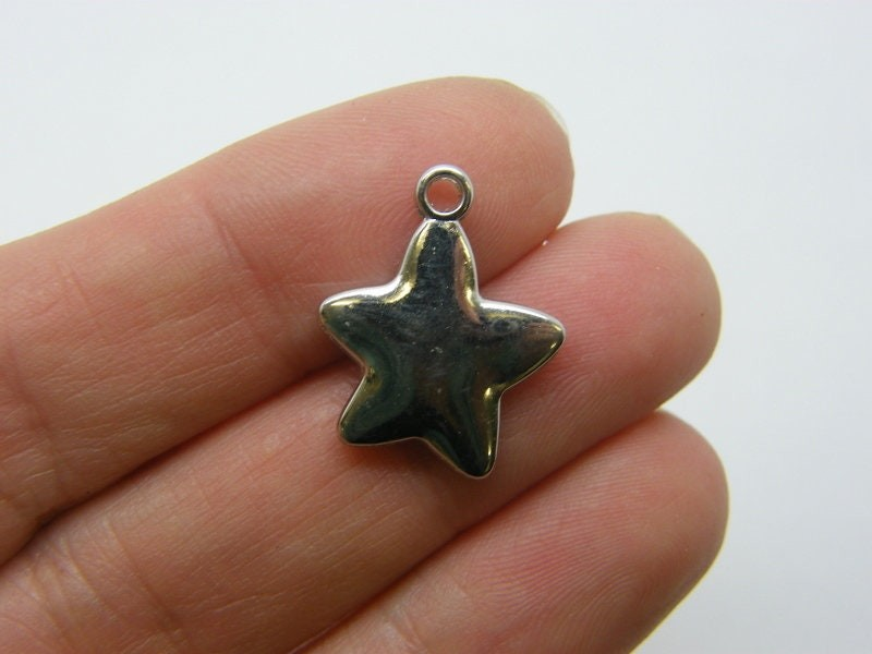 14 Star charms CCB plastic S274