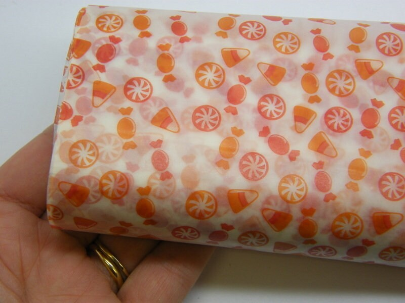 50 Sheets Halloween orange candy greaseproof paper