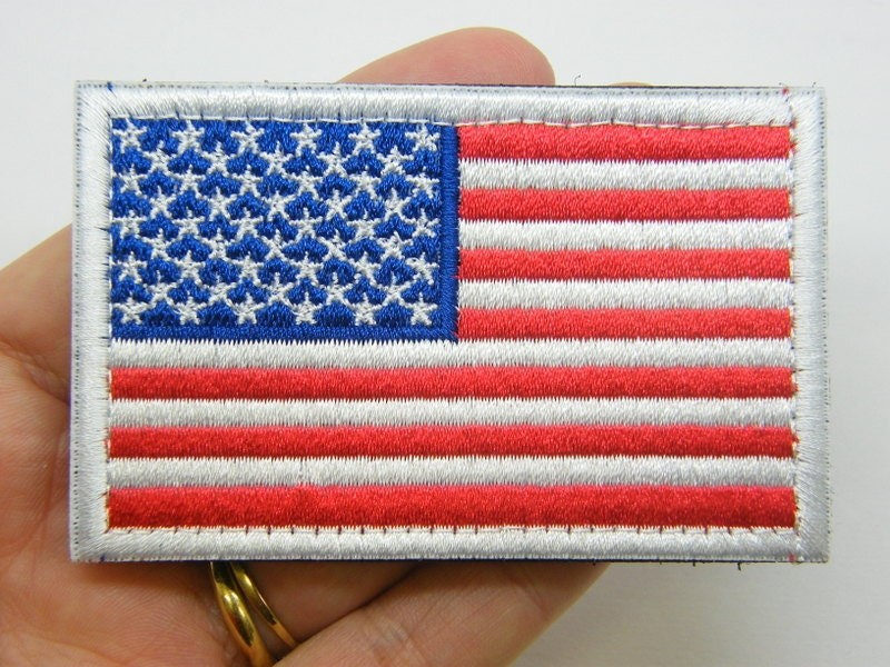 1 United States flag USA sew on patch WT26