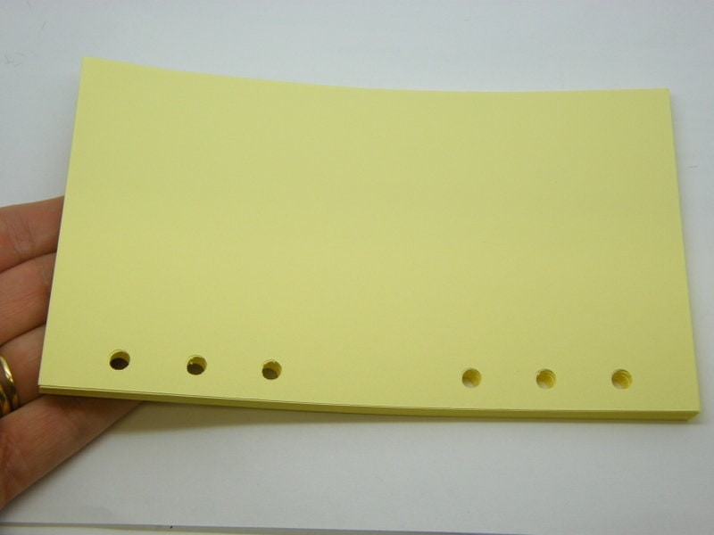 40 Sheets yellow paper refill file folder  6 holes fit size A6