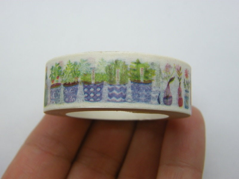 1 Roll herbs cocktail jams washi tape 10 meter ST