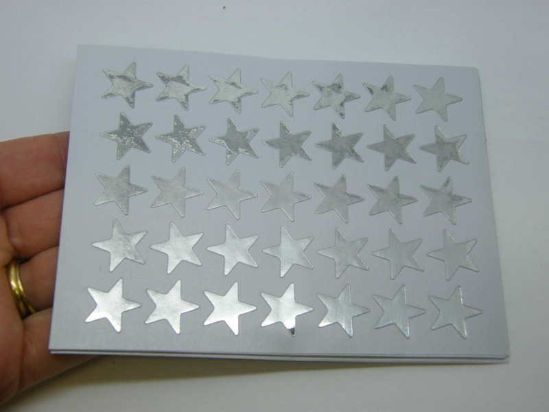 350 Silver star stickers ST