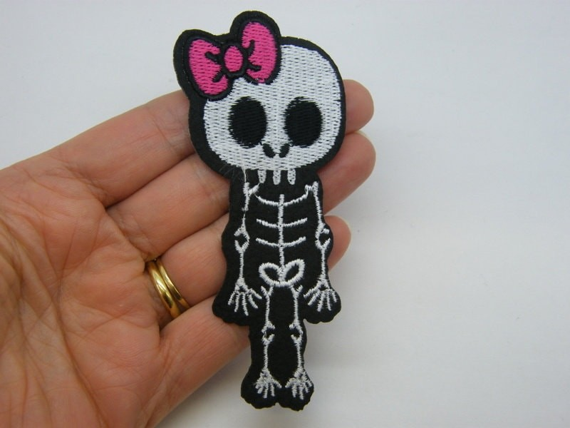 2 Girl skeleton patches material HC517