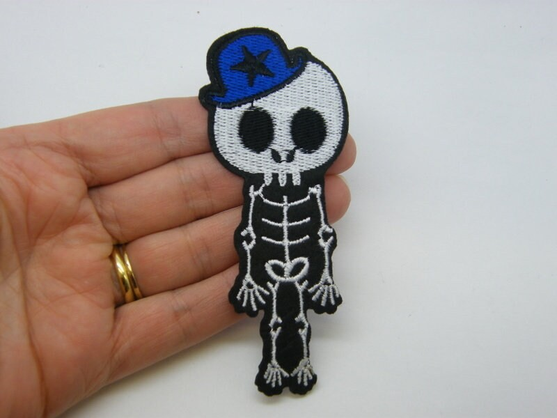 2 Boy skeleton patches material HC516