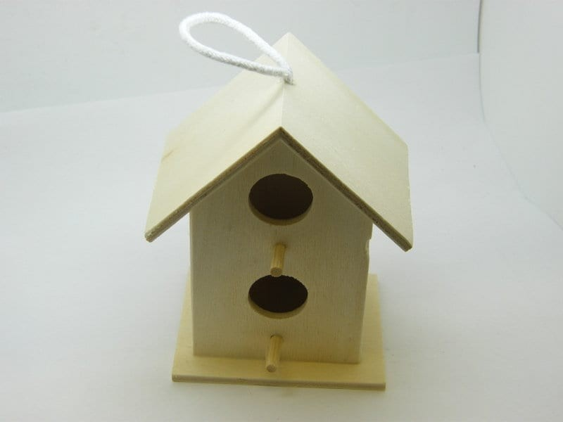 1 Birdhouse double opening decorate and paint it yourself art and craft project