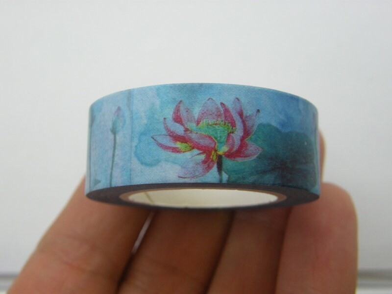 1 Roll lily flower washi tape 10 meter ST