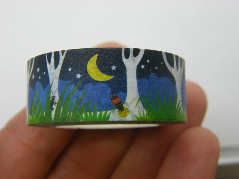 1 Roll tree firefly moon washi tape 10 meter ST