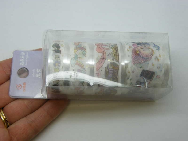 1 Set of 4 different witch magic tape box ST