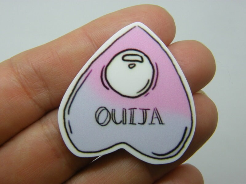 4 Ouija board embellishment cabochons resin HC575