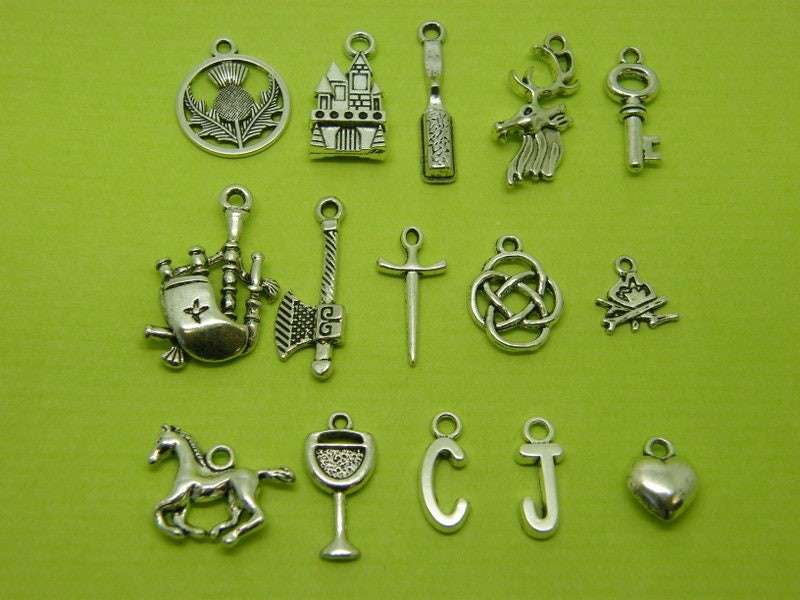 The Sassenach Collection - 15 different charms make up this set