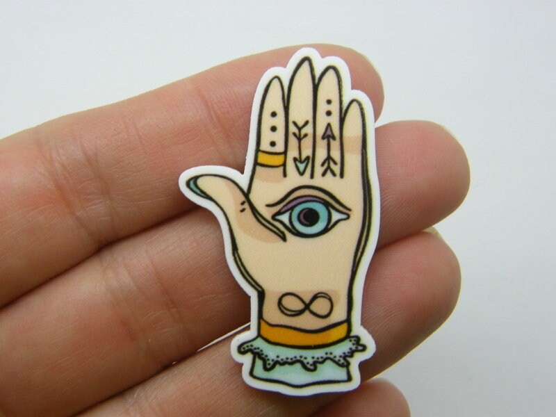 4 Seeing eye hand embellishment cabochon HC574
