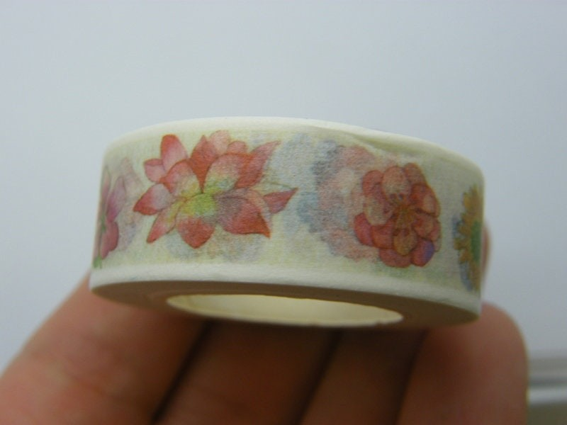 1 Roll flowers washi tape ST