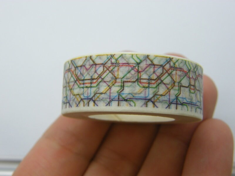 1 Roll tube underground route map washi tape ST