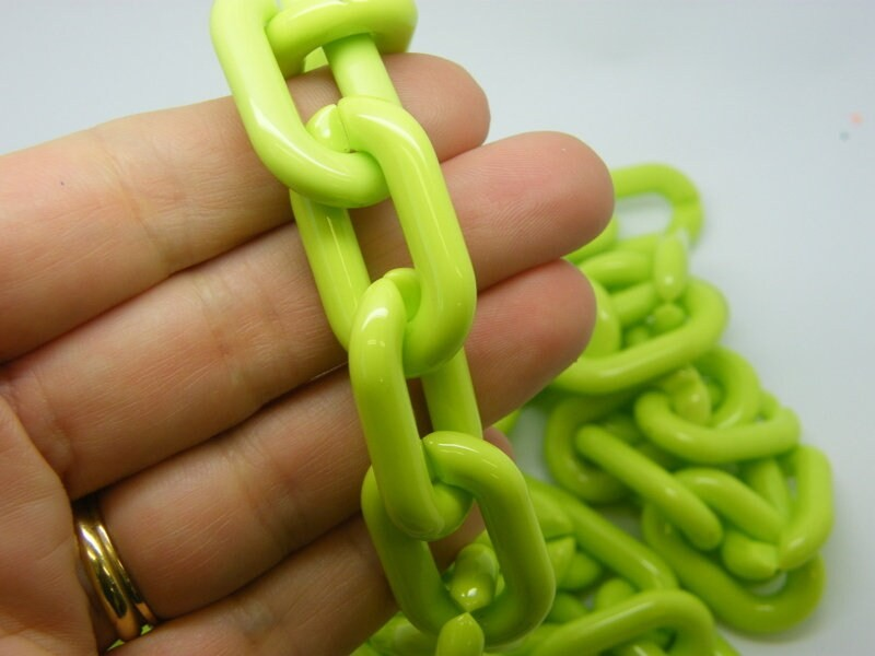 1 Meter green acrylic quick link chain FS