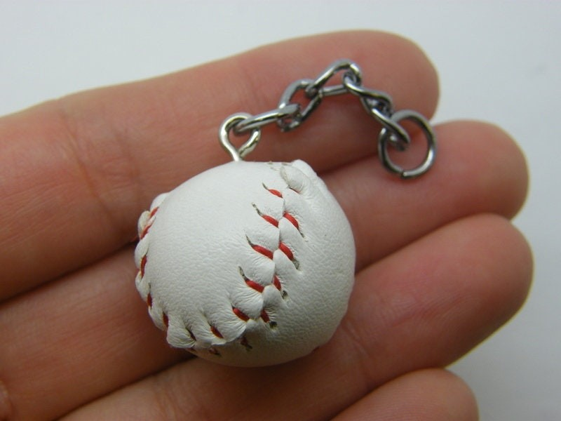 1 Baseball ball pendant silver tone SP54