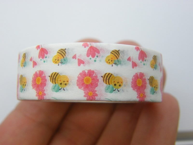 1 Bees flowers washi tape ST