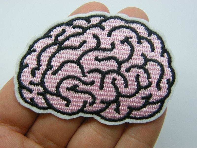 2 Brain patches material fabric MD1