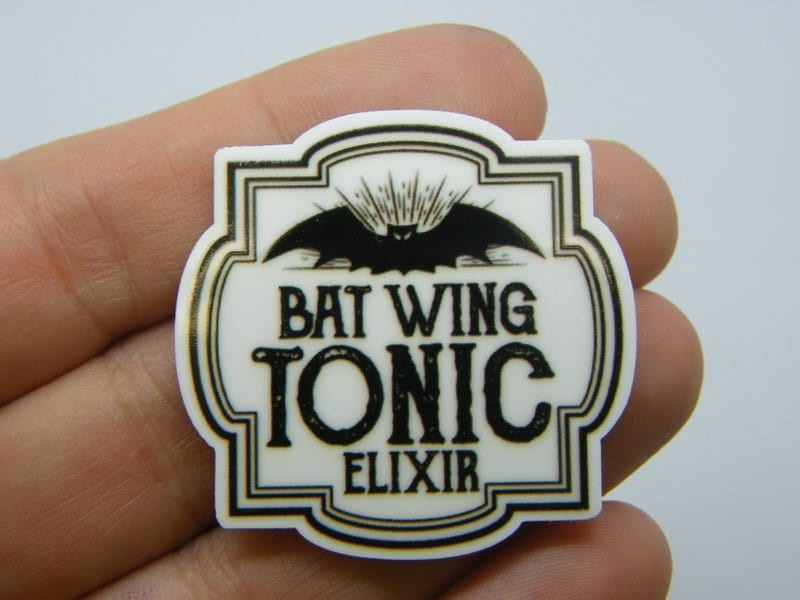 4 Bat wing tonic elixir embellishment cabochon HC590