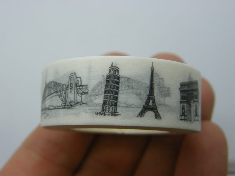 1 Roll famous landmarks of the world washi tape 10 meter ST