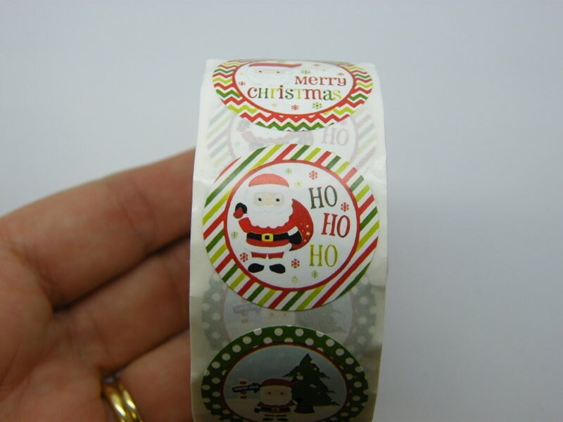 1 Roll Christmas 500 stickers - Style 1