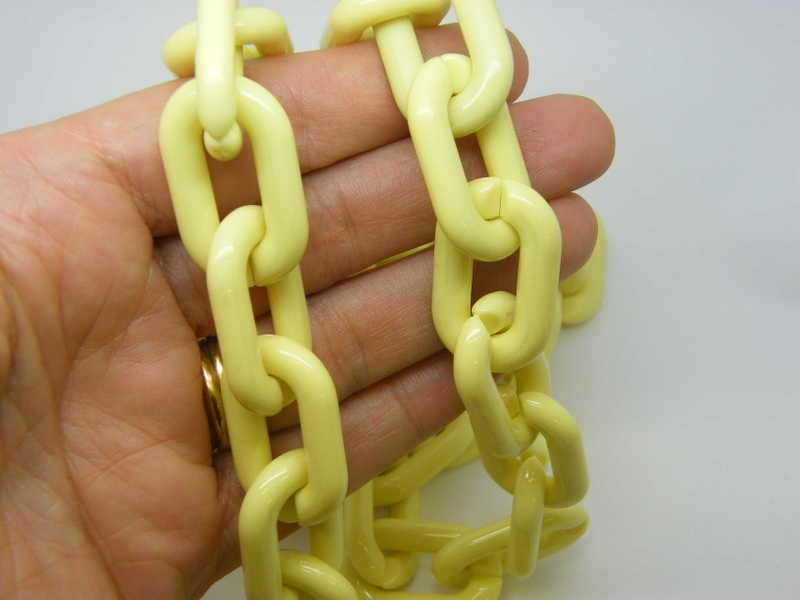 1 Meter yellow acrylic quick link chain FS