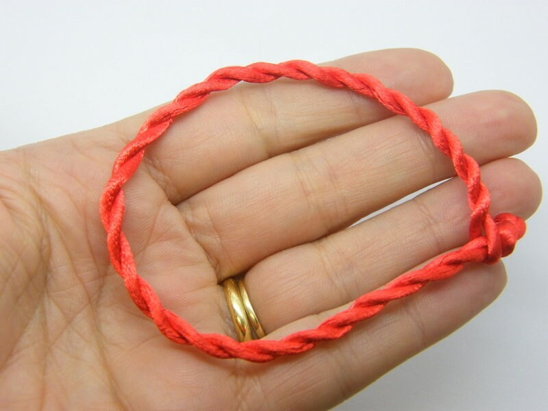 8 Red cord bracelets 19cm FS