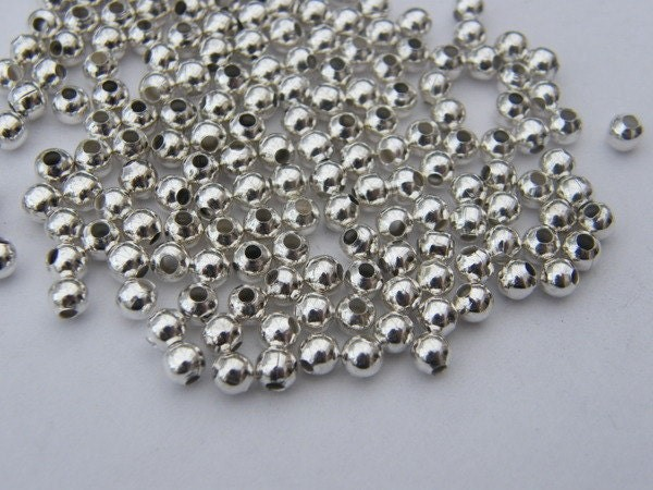 BULK 5000 Spacer beads 4mm silver plated