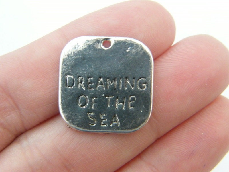 6 Dreaming of the sea pendants antique silver tone SC50