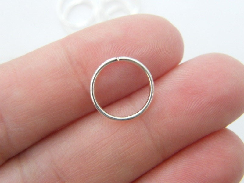 BULK 300 Jump rings 12mm silver plated FS422