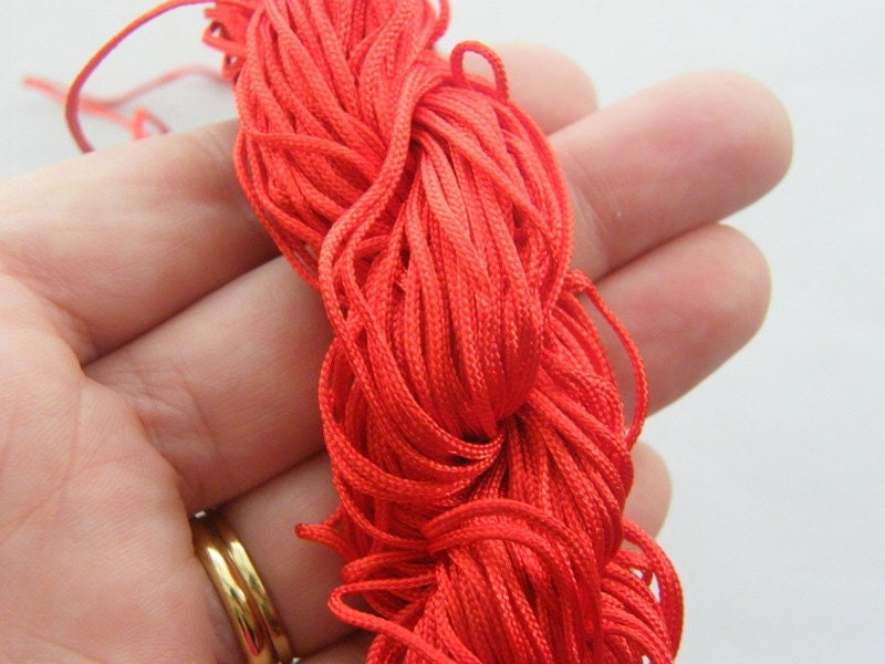 12 Meter red 2mm thick nylon cord FS167