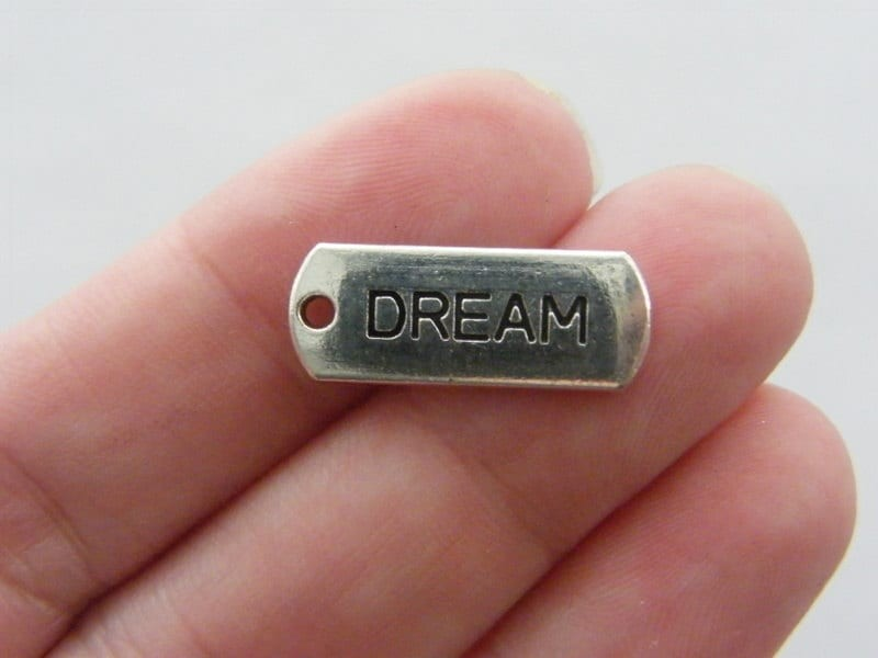 BULK 60 Dream charms antique silver tone M58