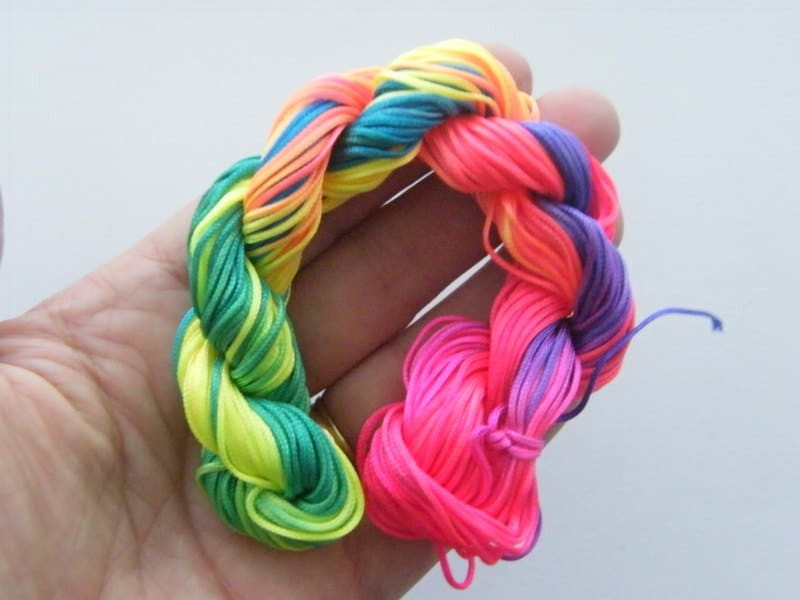 12 Meter mixed colours nylon string 2mm thick  FS160