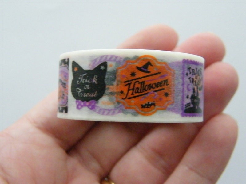 1 Roll Halloween washi decorating tape 20mm  4 Meter ST3