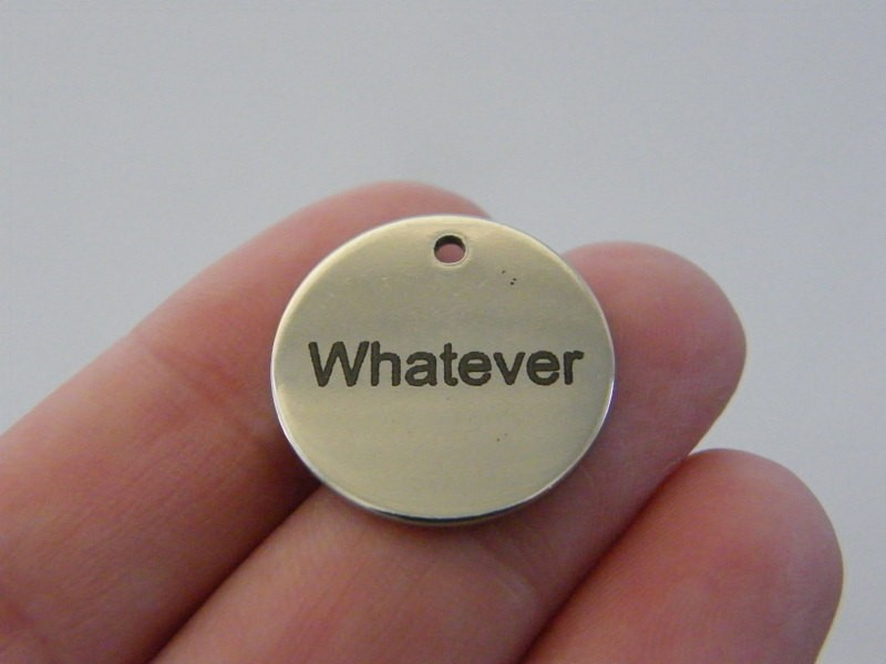 1 Whatever charm 20mm stainless steel TAG9 - 2
