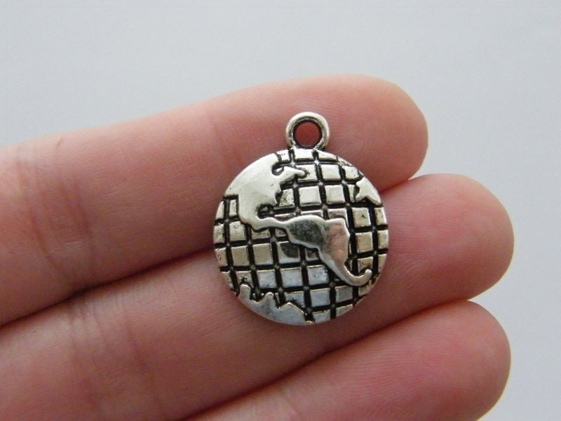 BULK 10 Flower of life pendants silver tone M181