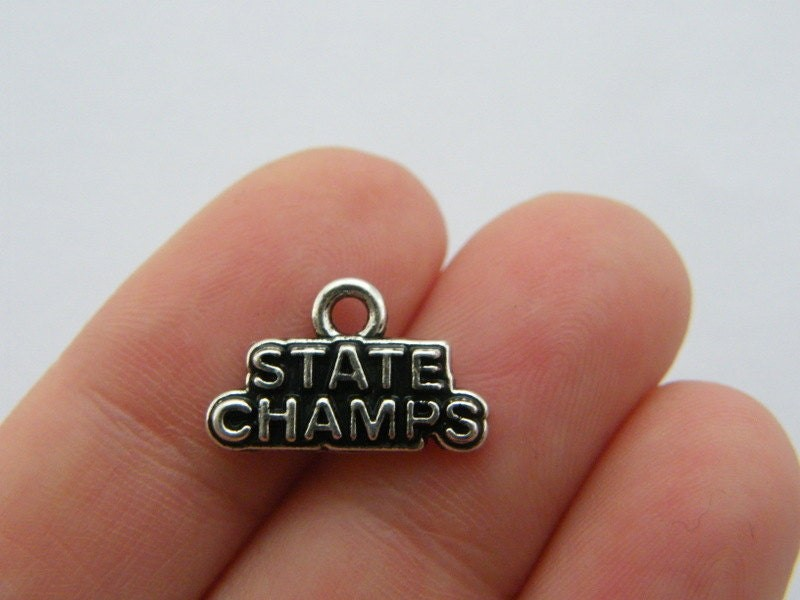 4 State champs charms antique silver tone SP186